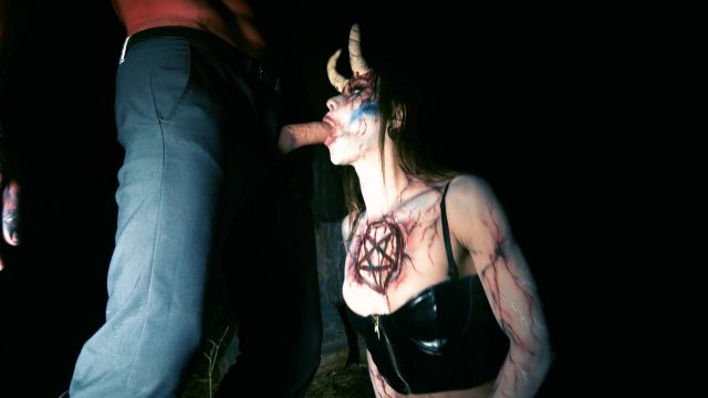 Nubile witch turns into greedy for trouser snake succubus