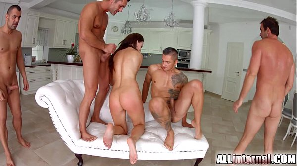 Tina Kay ass-fuck gang-bang internal ejaculation on All Inner half 1